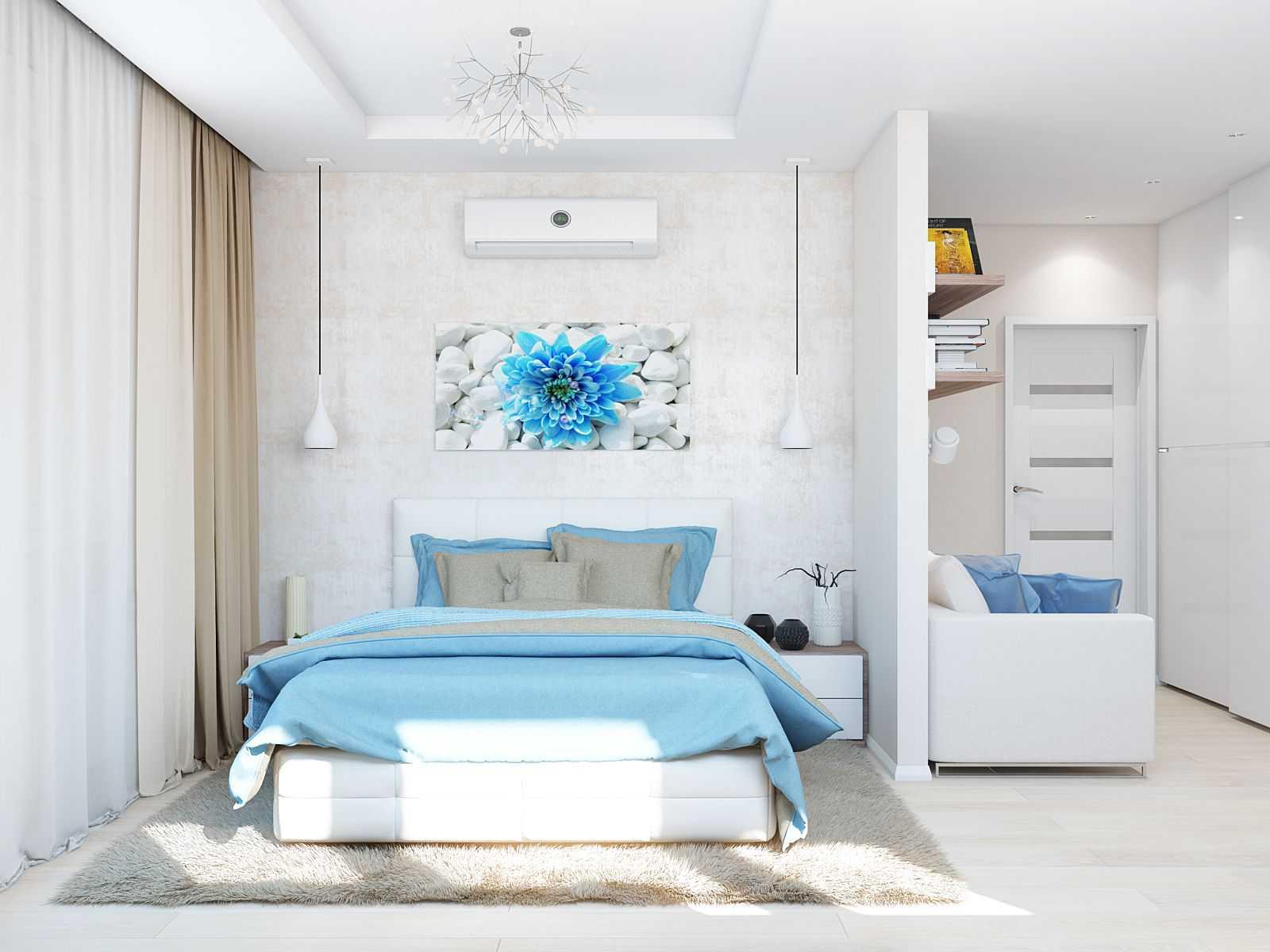 дизайн спальни в стиле минимализм