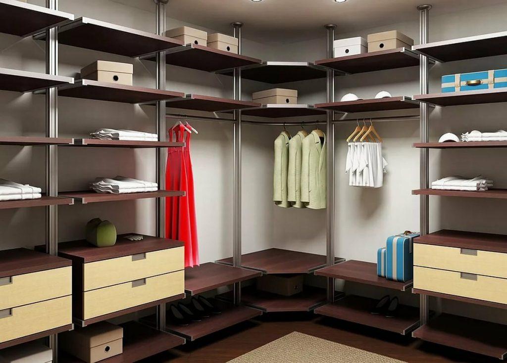Отделка гардеробной комнаты