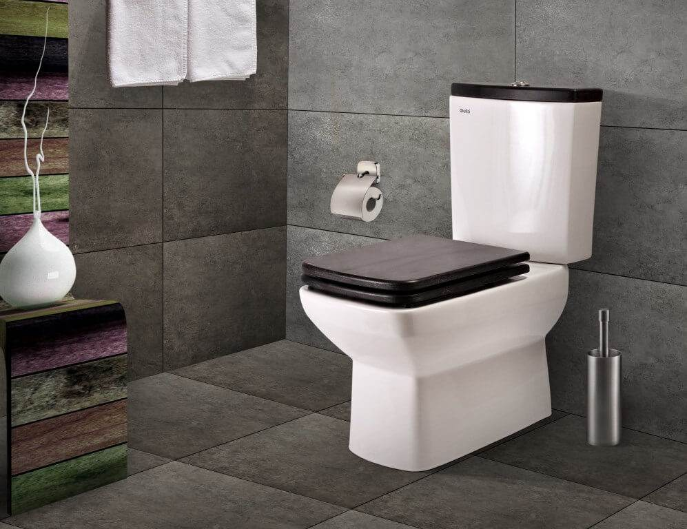 напольный унитаз в дизайне ванной