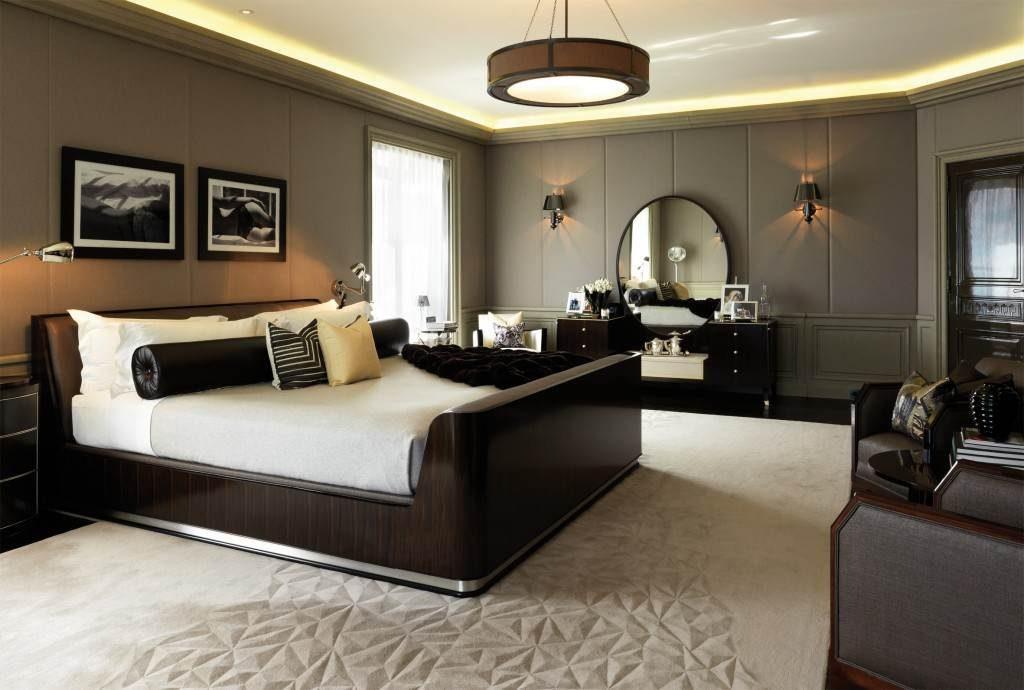 большая спальня в стиле модерн