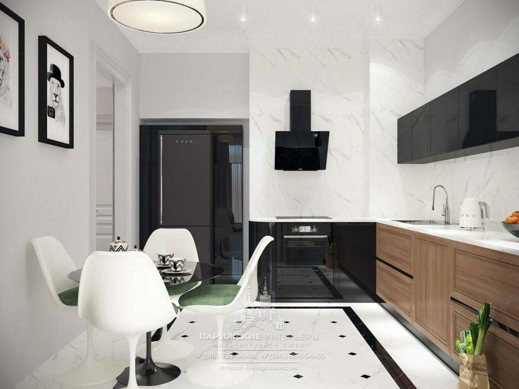 черно белая квартира дизайн фото