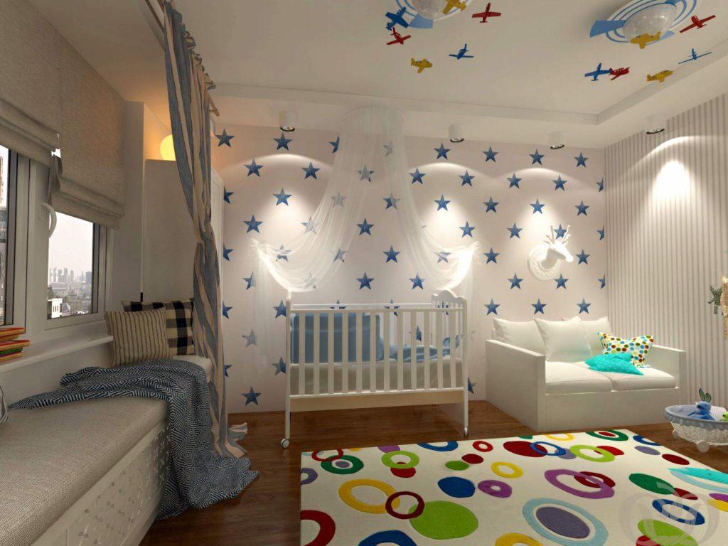 Детская комната для мальчика до 3-х лет