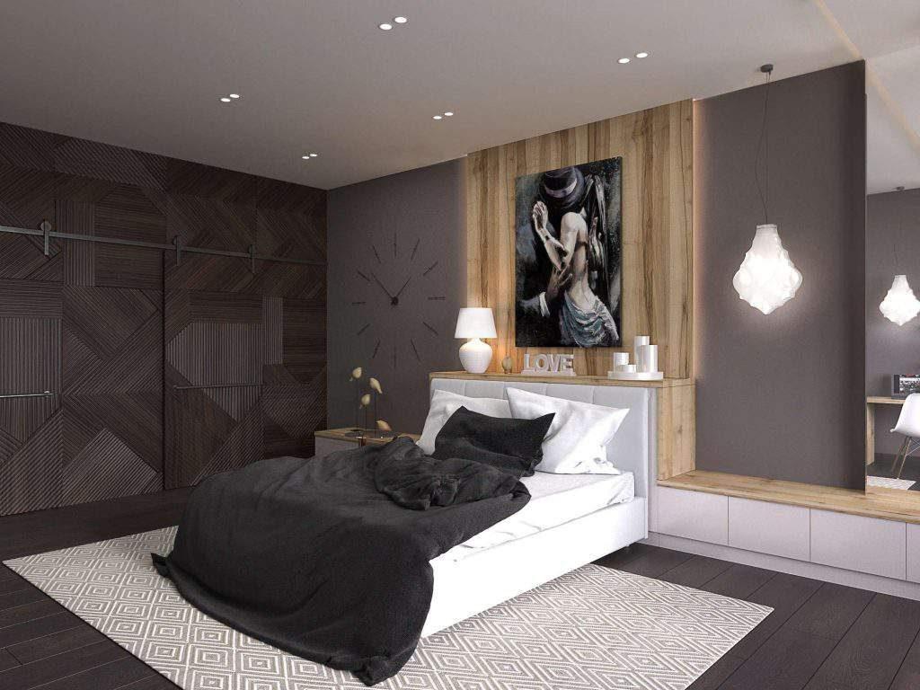 дизайн интерьер спальни в современном стиле фото