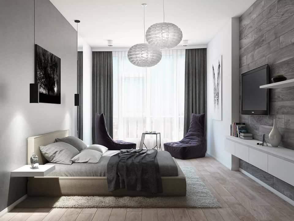 квартира в светло-серых тонах