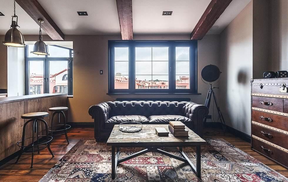 Потолки в стиле Лофт
