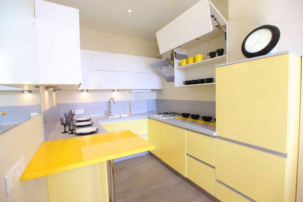Кухня в желтом цвете