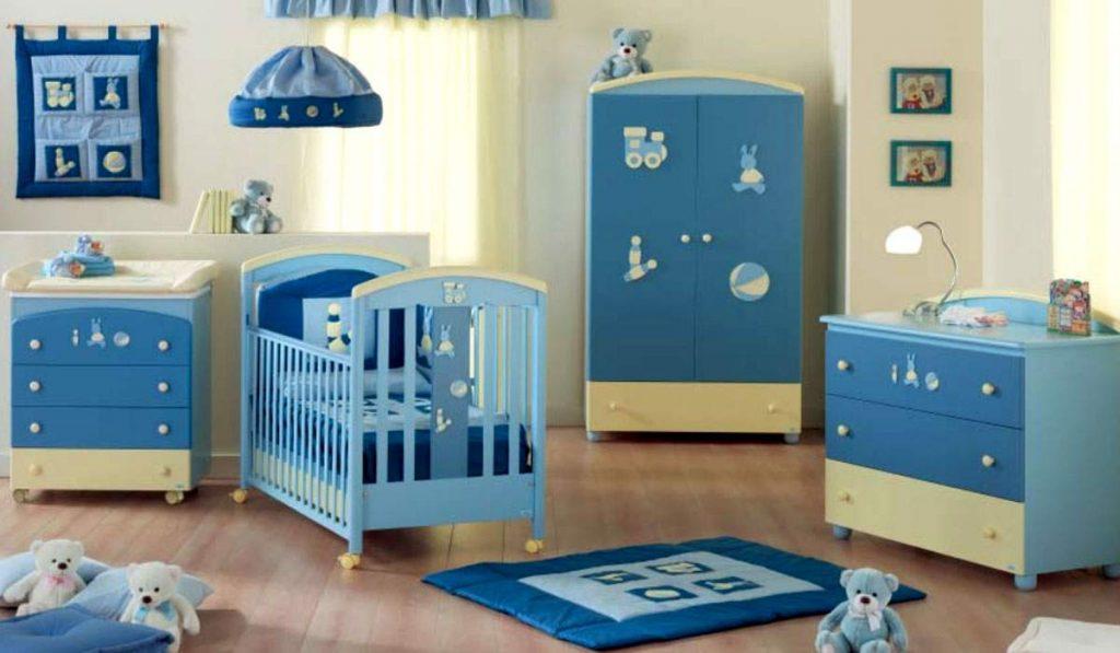спальня для мальчика до 3 лет