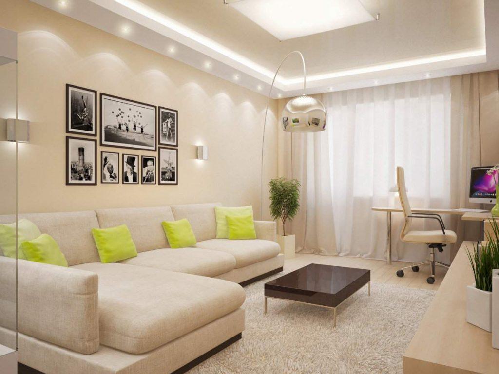 дизайн квартиры в бежевых тонах