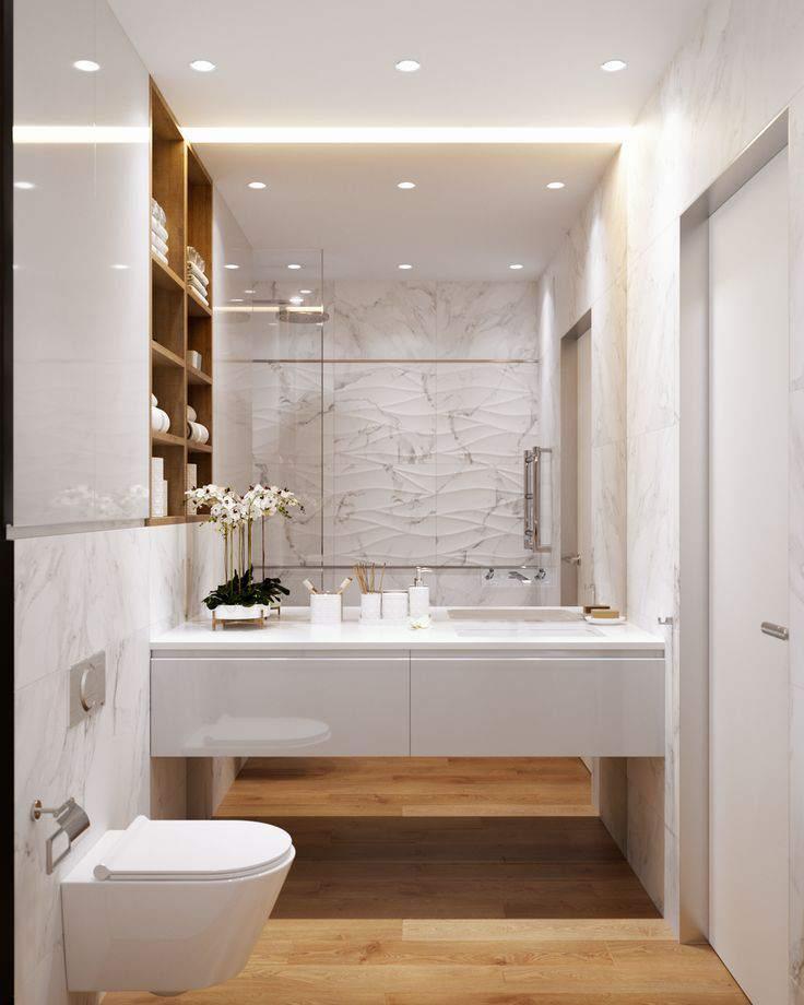ванная в светлых тонах