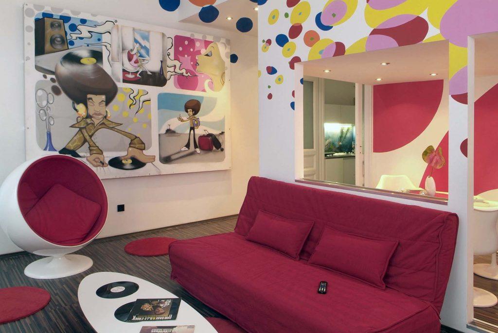Stil pop art v interere 7