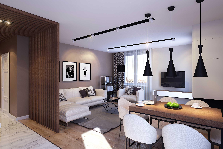 дизайн света в квартире в современном стиле фото