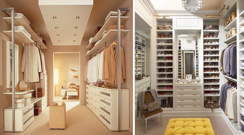 Большая гардеробная комната