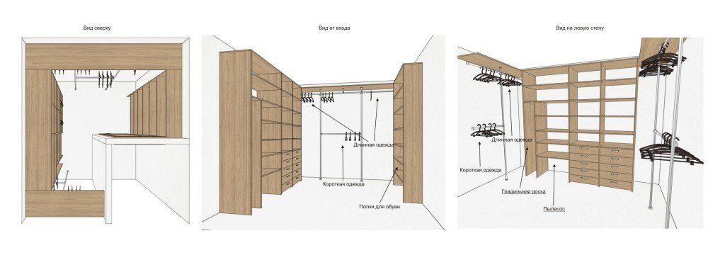 Дизайн проект Гардеробной Комнаты