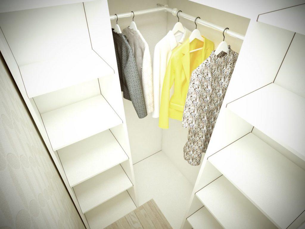 Маленькие гардеробные комнаты