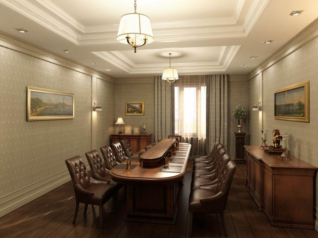 классический дизайн офиса
