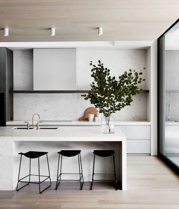 декор на кухне в минимализме