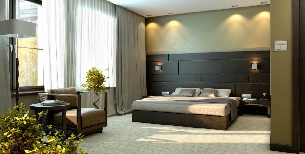 Дизайн большой спальни