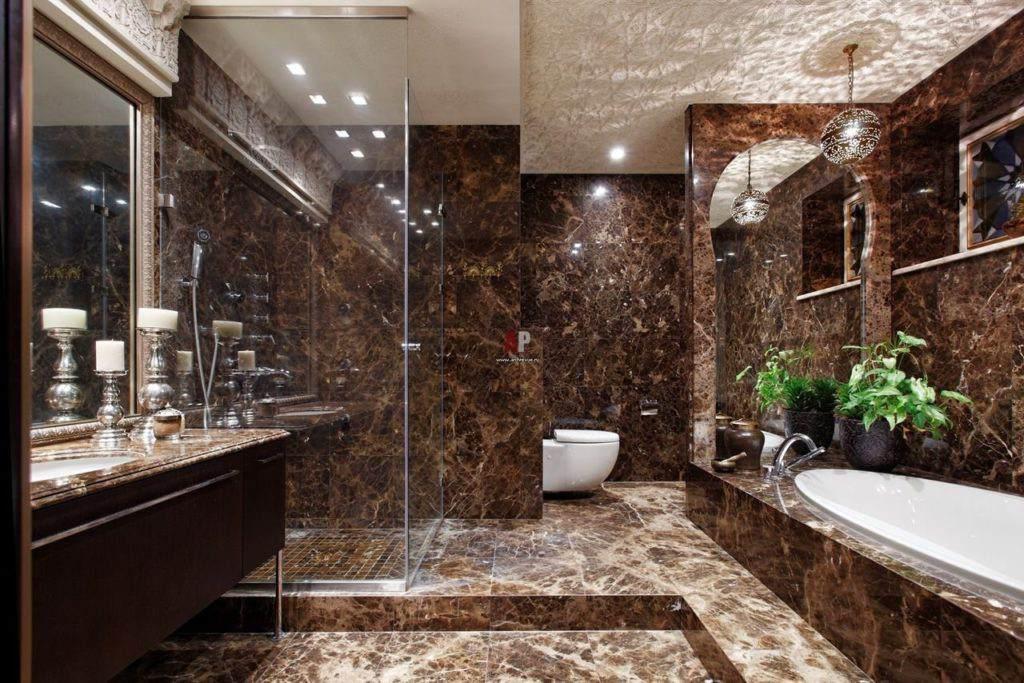 мраморная ванная - мультиколор