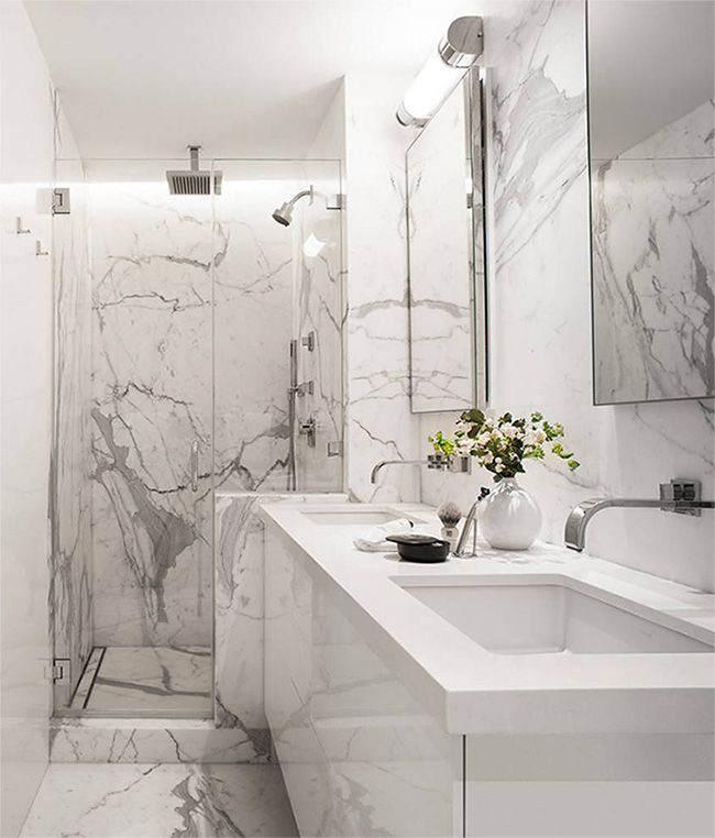 мраморная ванная комната дизайн