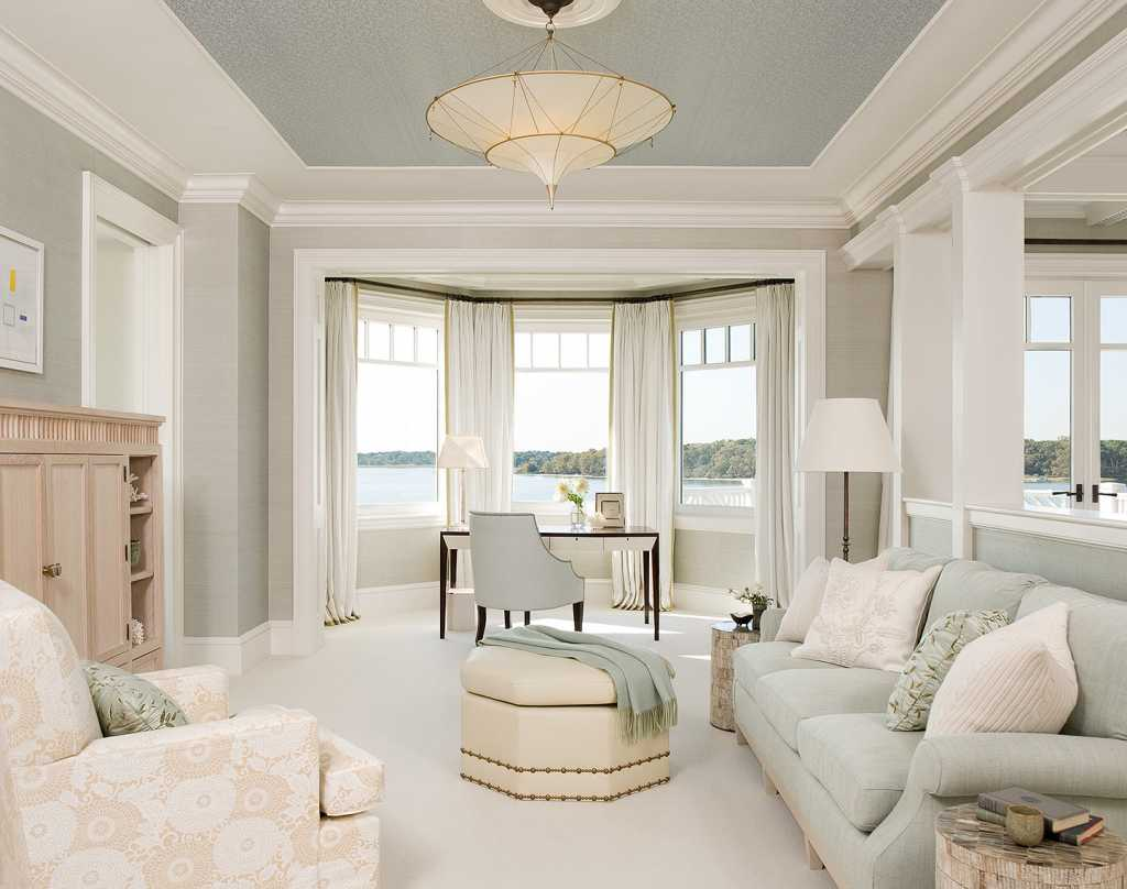 Спальня с эркером 37 фото дизайн интерьера в частном доме