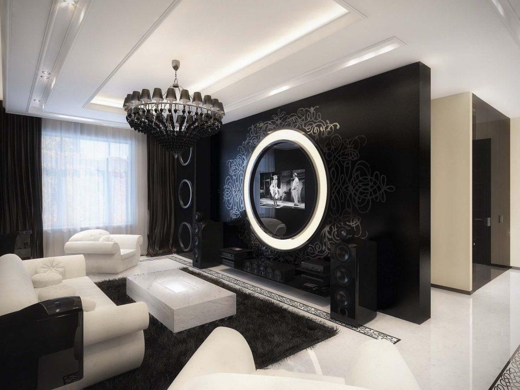 черно белые фото в интерьере гостиной счастливы