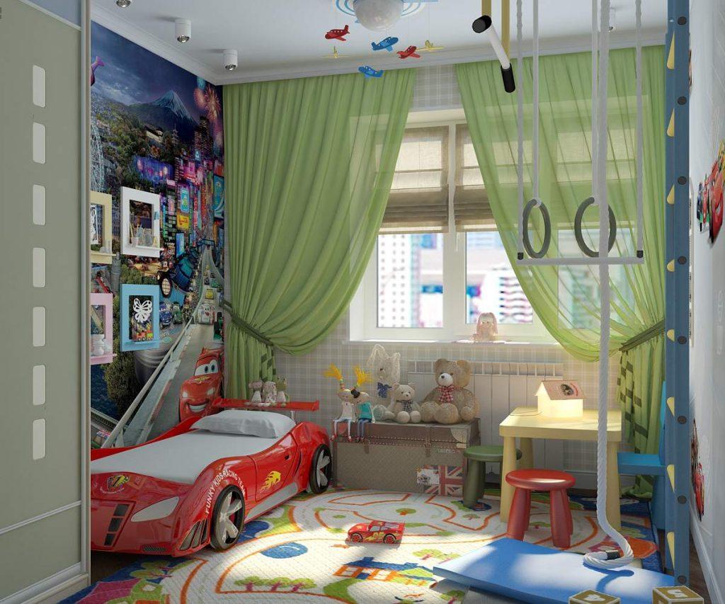 Интерьер детской комнаты для мальчика 3-5 лет