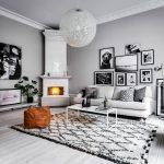 дизайн гостиной в серых тонах