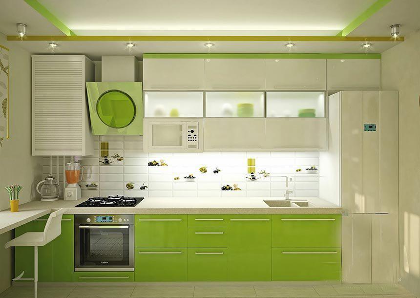 Кухня в зеленных цветах