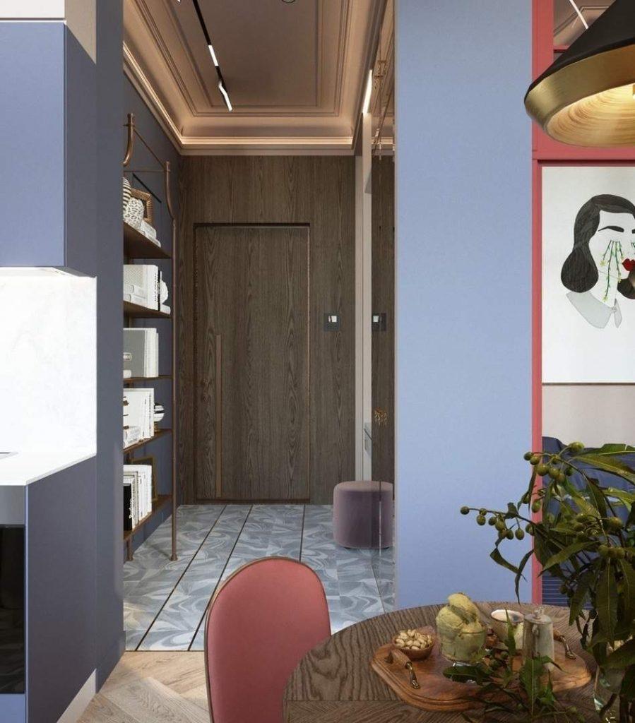 дизайн интерьера студии 28 кв.м