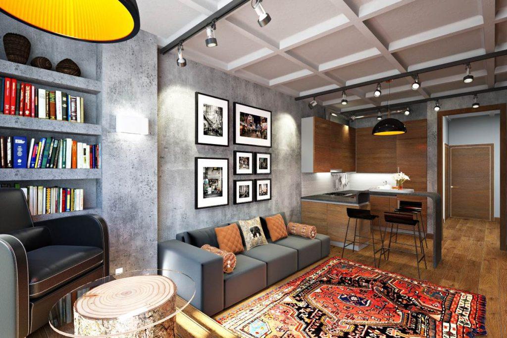Мебель в интерьере Лофт