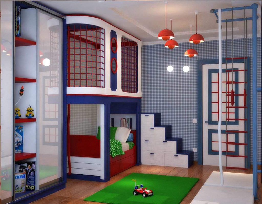 детская комната дизайн интерьера для мальчика