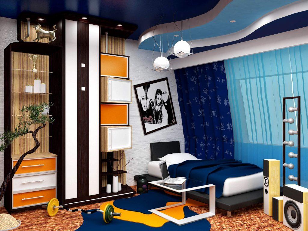 Дизайн комнаты для мальчиков в фото