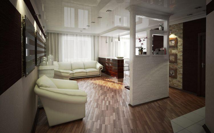 дизайн проект 3 х комнатной квартиры