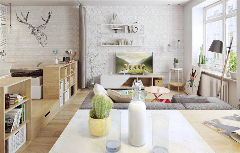 готовые дизайн проекты квартиры студии