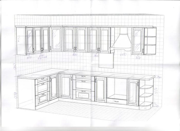 кухня проект дизайн самостоятельно