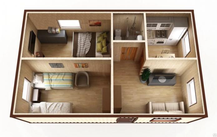 дизайн проект квартиры 60 кв