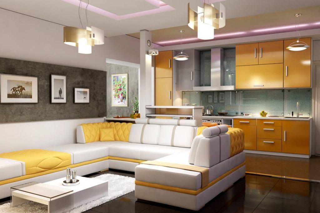 дизайн проект кухни гостиной 20 м