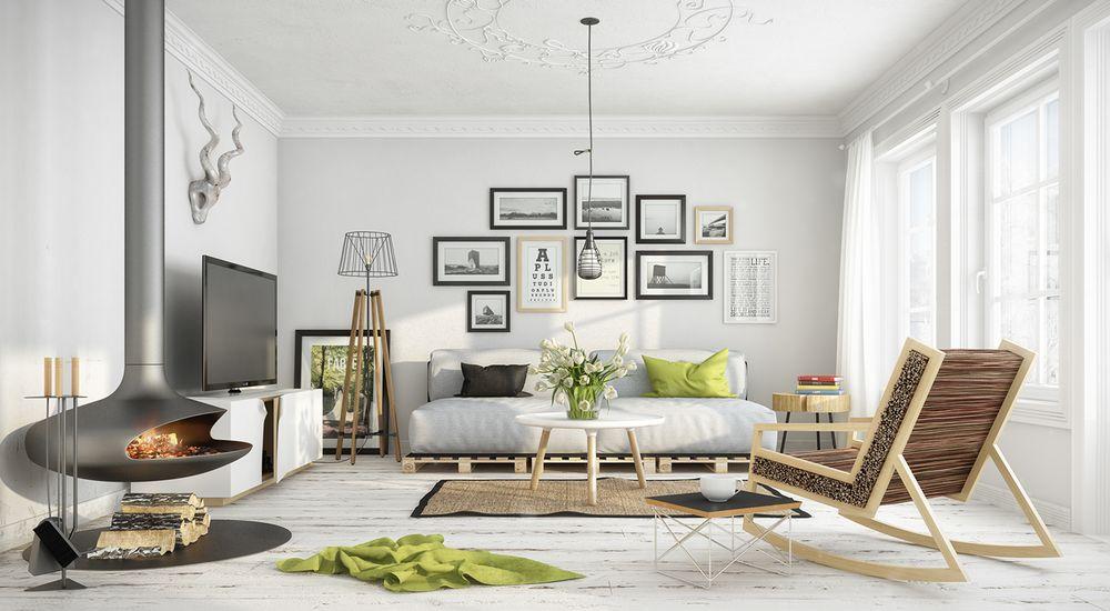 дизайн  в скандинавском стиле фото проекты