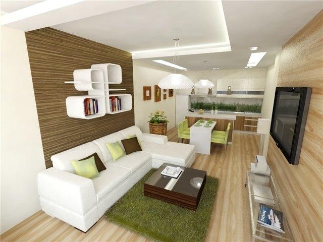дизайн проект кухни гостиной 20