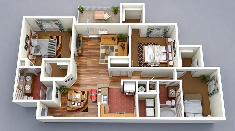 дизайн проект квартиры бесплатно  от студентов москва