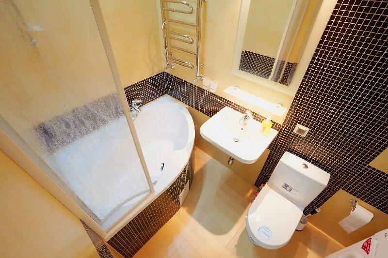 дизайн проект совмещенной ванной комнаты