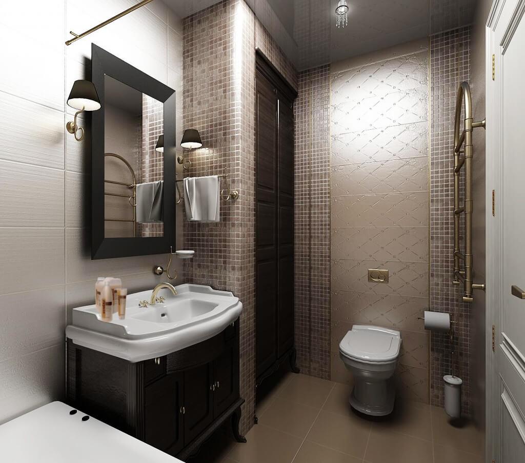 дизайн проект ванна туалет