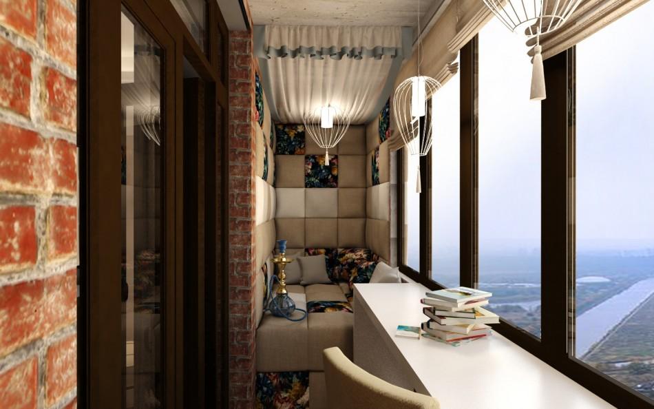 Дизайн-проект маленького балкона